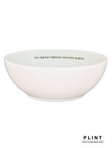 Servies enzo - Poëten aan tafel - porseleinen kom met dichtregel